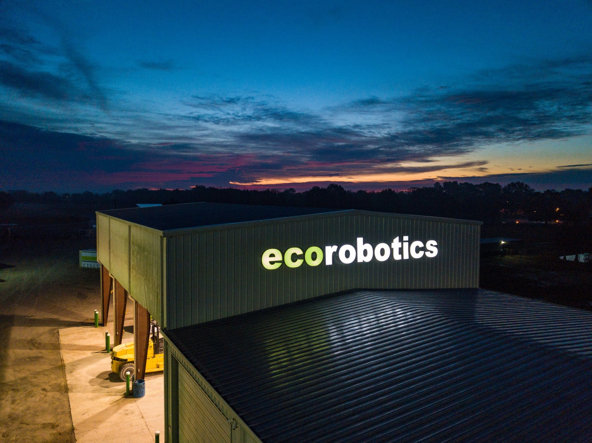 external view ecorobotics warehouse