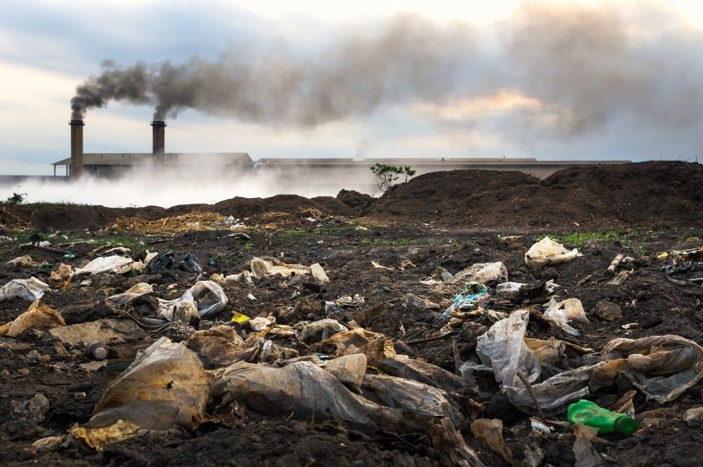 industrial waste tips